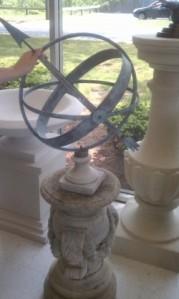 Sundial on an ornate base