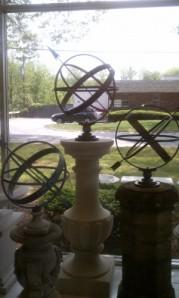 Three Sundials on Unique Pedestals