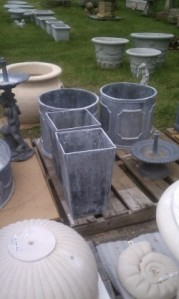 Wide variety of cast, concrete and lead containers